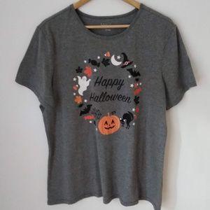 Happy Halloween Logo Gray Basic Edition T-shirt